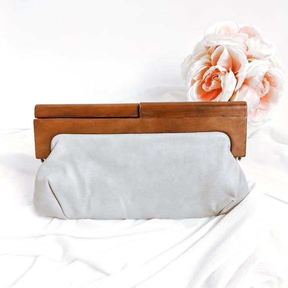 Melie Bianco Handbags - Wooden Melie Bianco Nordstrom Wooden Handle Clutch